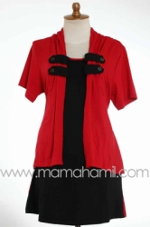 baju menyusui kancing lokal merah   SD 182  large